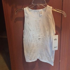 Also Brand -White Vixon Fitted Muscle Tank - Small